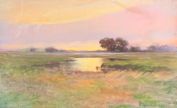 Edward Dearborn Everett Marsh at Sundown unframed