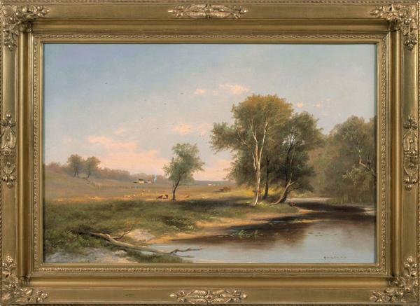 Elizabeth Remington Hudson Valley Landscape Framed