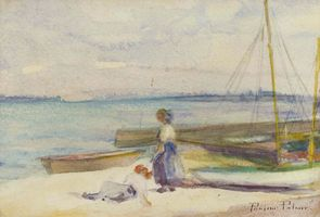Pauline Palmer On the Beach Unframed