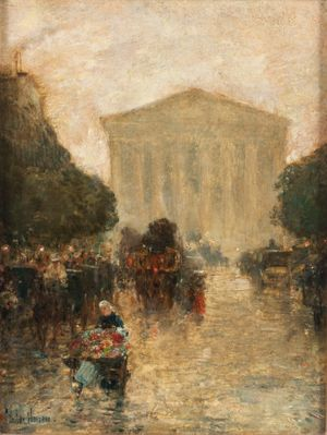 CHILDE HASSAM Twilight After Rain Unframed