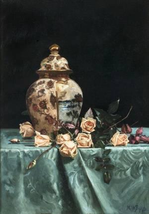 Martha Bare Still Life with Roses Framed