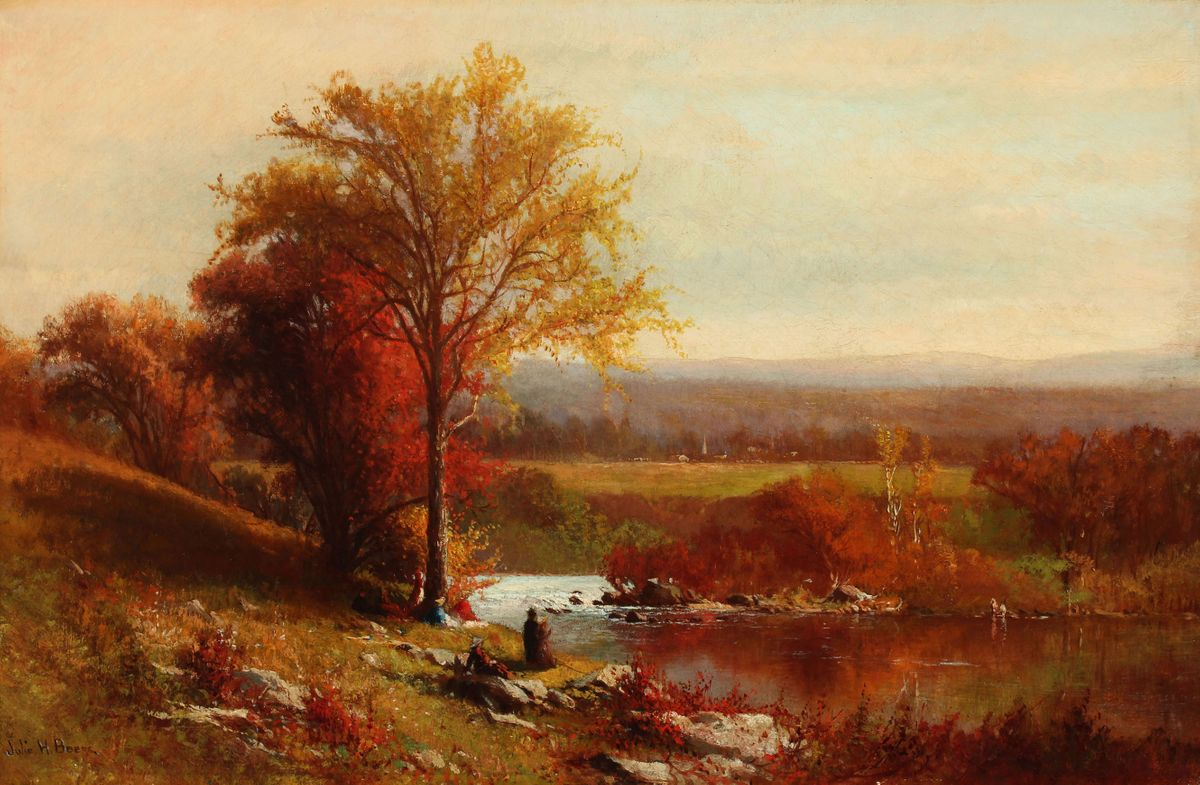 Julie Hart Beers Autumn Picnic in the Hudson Valley unframed