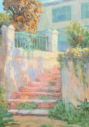 Abrams Garden Steps, Bermuda unframed