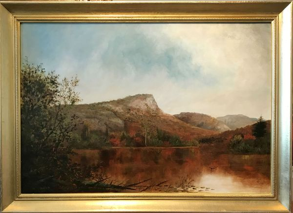 IDA H. STEBBINS View of South Pond, New York Framed