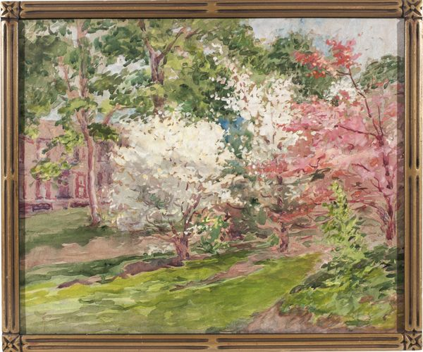 Alice Preble Tucker De Haas Dogwood Blossoms Framed