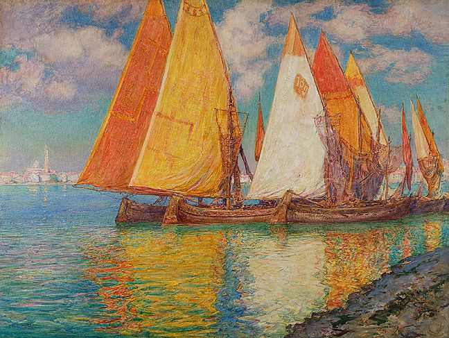 Walter Launt Palmer Drying the Nets Unframed