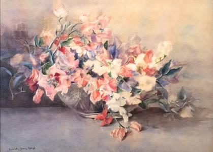 Emma Collin Sears Marsh Sweetpeas Unframed