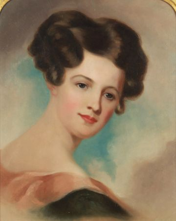 Jane Cooper Sully Darley Portrait of a Lady unframed