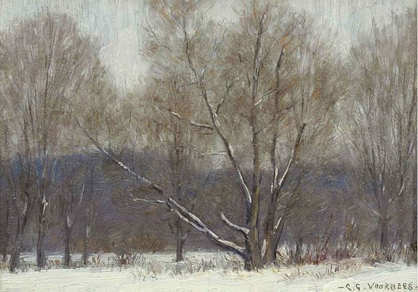 Clark Greenwood Voorhees Winter Forest Unframed