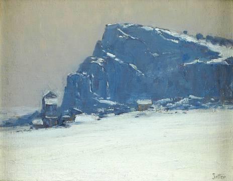 GEORGE WILLIAM SOTTER Winter Nocturne Unframed