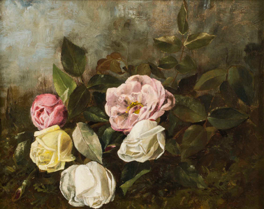 Claude R. Hirst Roses Unframed