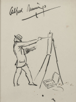 Alfred Runnings The Artist at his Easel Unframed