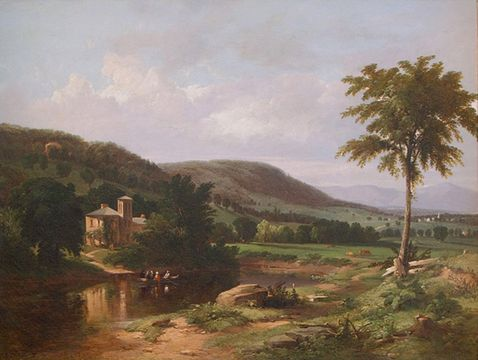 WILLIAM HART Summer Idyll in the Hudson Valley, 1849