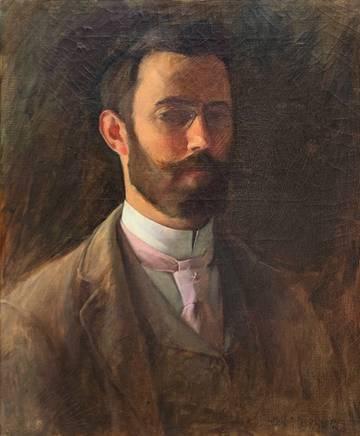 Charles Courtney Curran Self Portrait, 1890 [Diploma portrait]