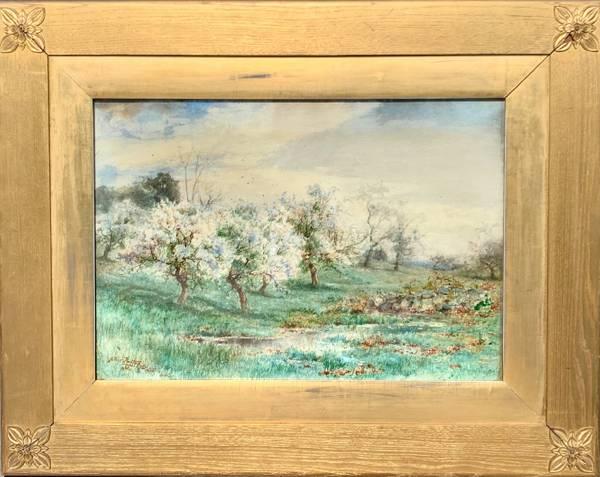 Arthur Parton Apple Orchard in Blossom