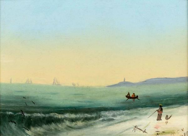 Mattie C. Voorhees Coastal Landscape, 1879 unframed