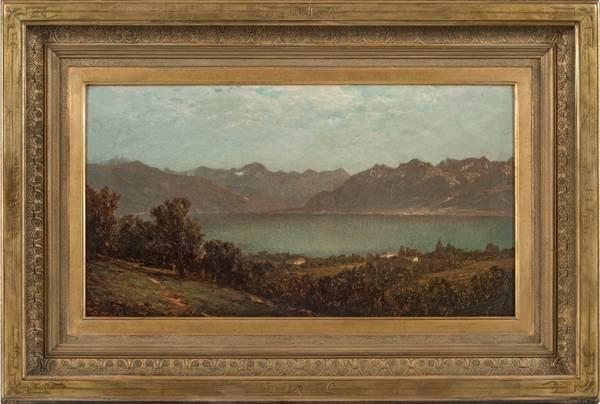 John William Casilear Mountain Lake Framed