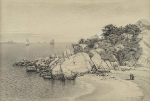 James Renwick Brevoort  Stage Rocks and Halfmoon Beach, Gloucester, MA Unframed