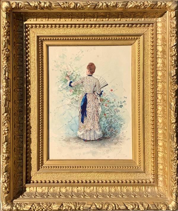 William Henry Lippincott Woman in a Garden