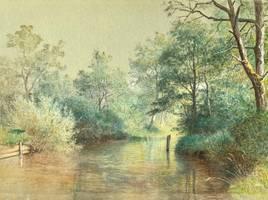 William Stanley Haseltine Ubersee, Bavaria unframed