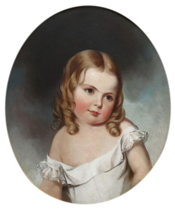 Jane Cooper Sully Darley Portrait of Ellie Kendall, Age 2 1/2 years