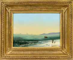 Mattie C. Voorhees Coastal Landscape, 1879
