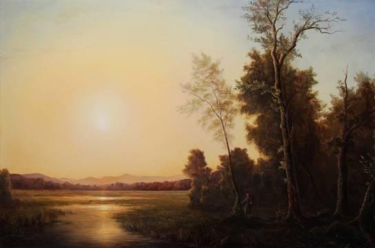 Scene of Sunrise_Lauren Sansaricq_24x36in._oil on pane_webl.jpg