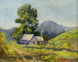 Hazel Barker Hayes  House in a Mountain Landscape Unframed