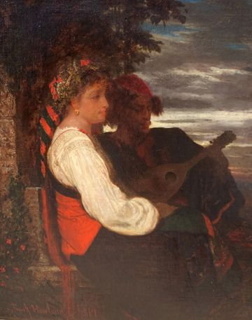 Frank Howland Two Figures overlooking a Sunset, 1867