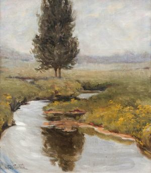 Mary Pemberton Ginther Autumn Brook Unframed