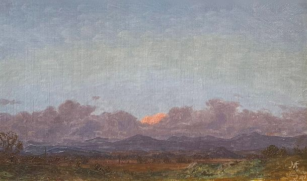 Jervis McEntee View of the Catskills at Rondout, New York, 1870 unframed