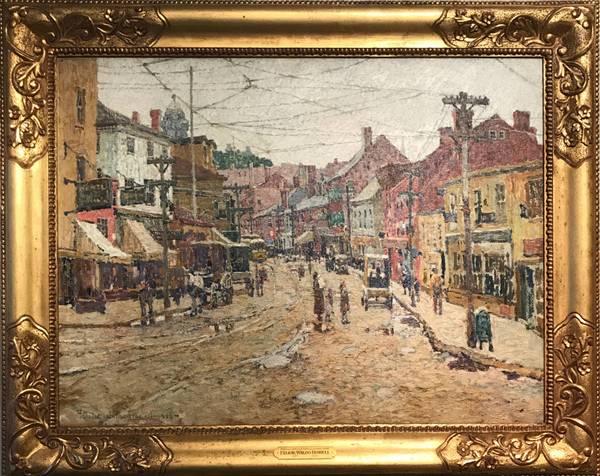 Felicie Waldo Howell, Main Street, Gloucester Framed