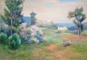 Edmund Henry Garrett Bermuda Landscape with Houses.png
