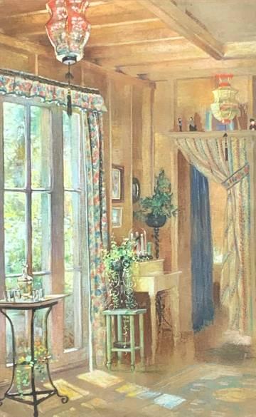 Mary Lane McMillan Interior of Artist's Home