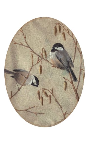 Emma Bailey Fraser Chickadees unframed