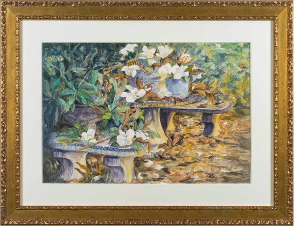 Caroline Davis Wilson Magnolias on a Tabletop, Charleston Gardens
