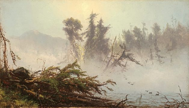 James McDougal Hart Misty Morning, Lake Placid, 1860 unframed