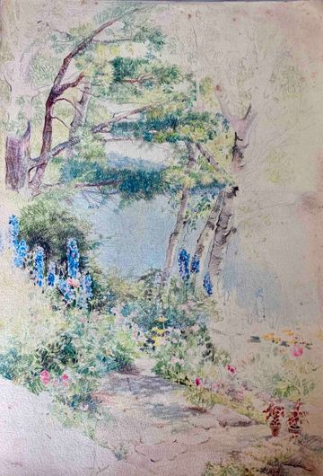 Mary Lane McMillan By the Lake in Maine unframed