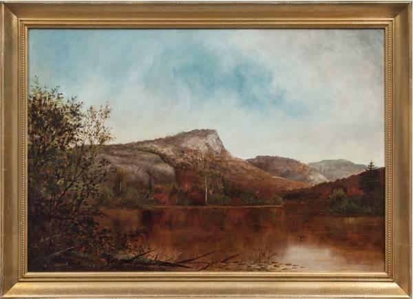 IDA H. STEBBINS View of South Pond, New York Framed