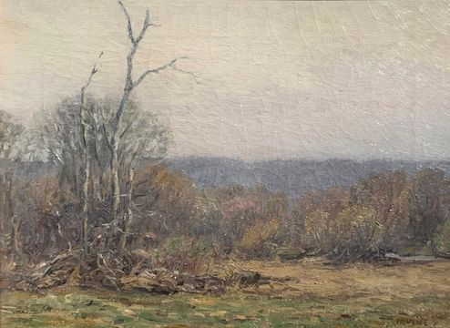 Wilson Irvine Early April Mist, Old Lyme, CT