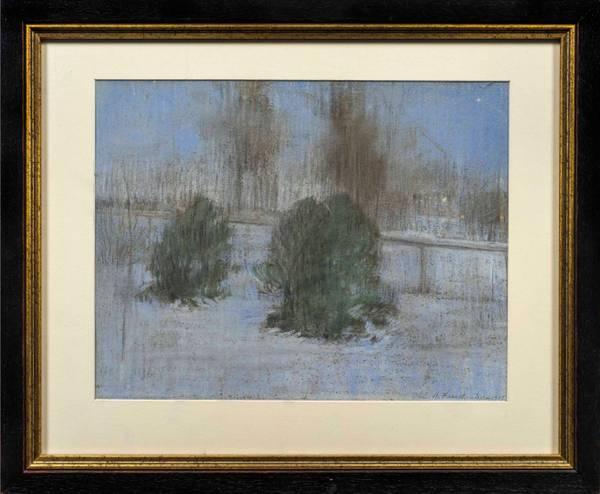 Alice Helm French Evening Snow Scene