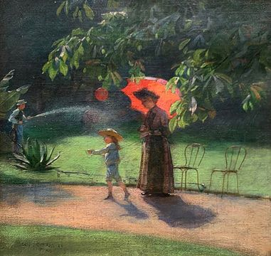 Charles Courtney Curran The Red Balloon, 1885
