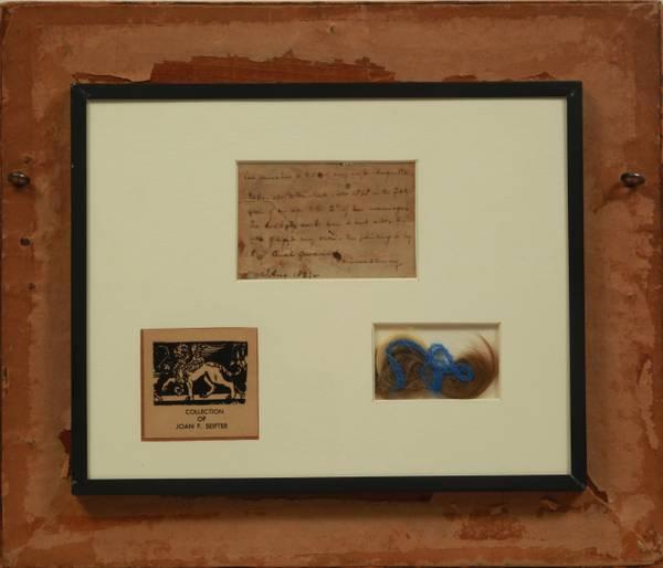 Sarah Goodridge James Trask Woodbury & Augusta Porter Woodbury, 1828, verso