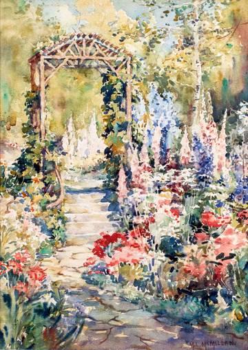 Mary Lane McMillan The Garden Path unframed