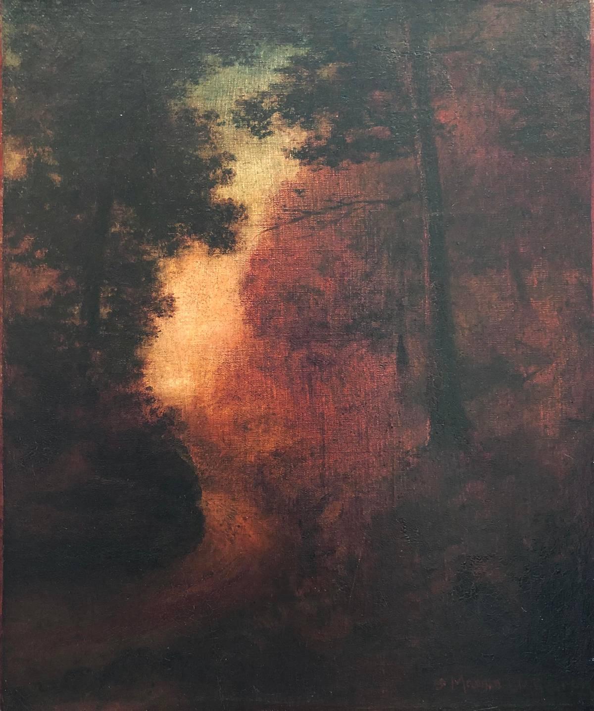 Marian Blakelock Twilight in the Woods Unframed