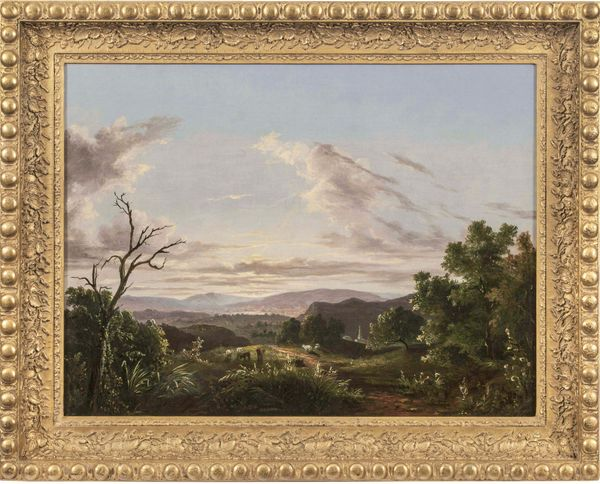 ABIGAIL TYLER OAKES View of the Connecticut  River Valley Framed