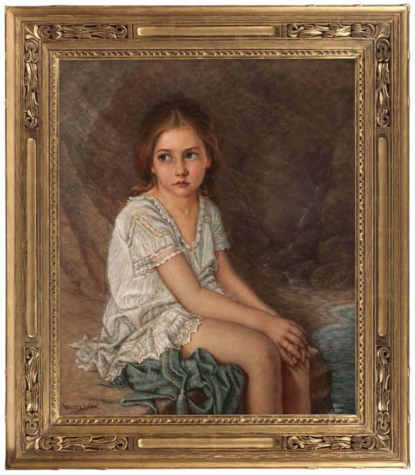 Walter Cox Portrait of a Girl Framed