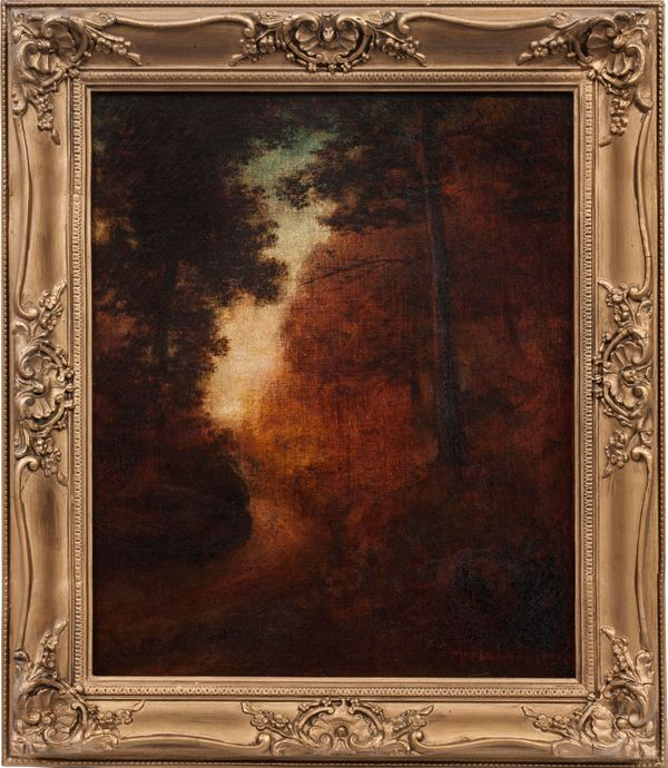 Marian Blakelock_Twilight in the Woods-framed.jpg