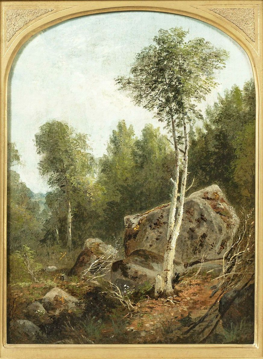 Agnes Brown Landscape with White Birch Unframed