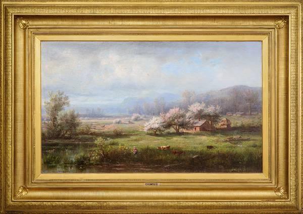 Régis François Gignoux Spring Landscape Framed